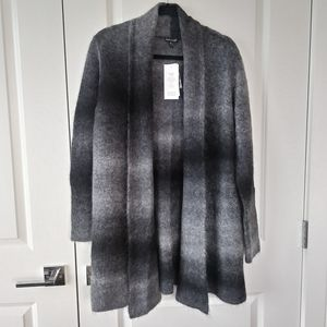 Eileen Fisher Ombre Mohair Blend Cardigan Sweater